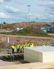 The board of the Nordic Investment Bank toured the site last week.