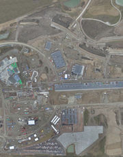 Orthographic flyover image of ESS site.