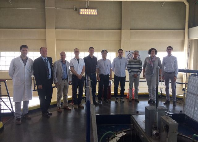 Target grease study group at LENA reactor