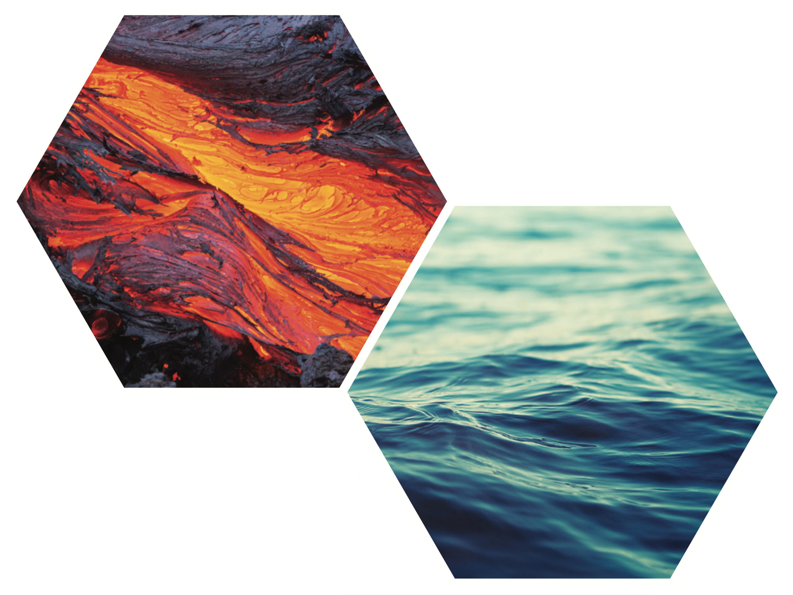 DREAM hexagon image lava water