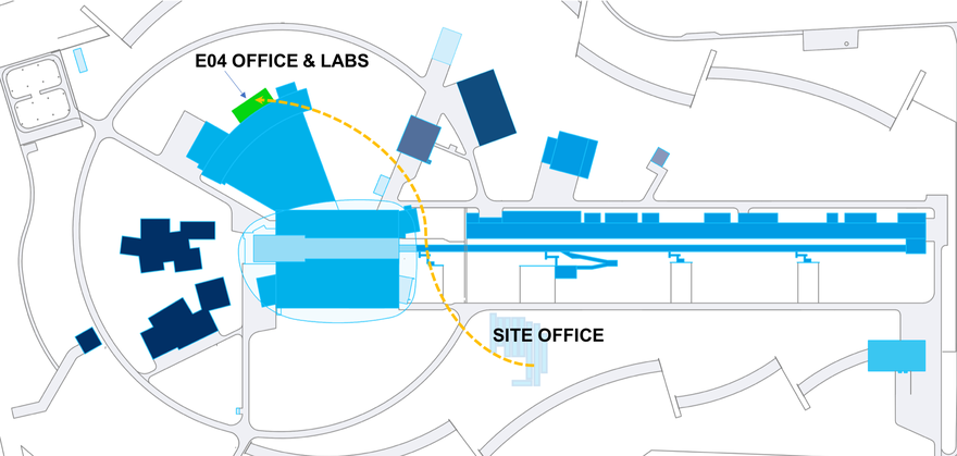 Map of ESS showing new E04 Lab Building