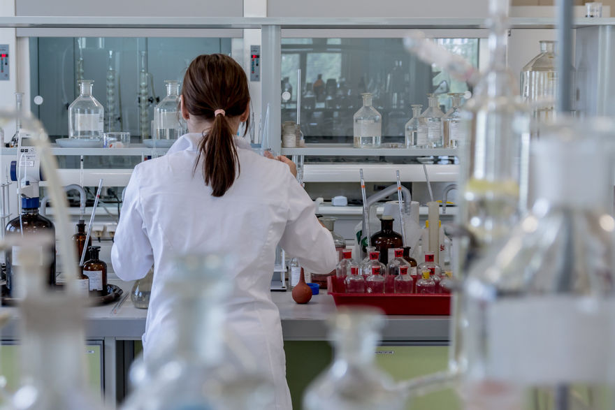 Scientist working in a laboratory environment