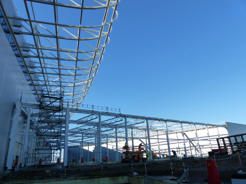 Steel structure complted for the Beamline Gallery part 2