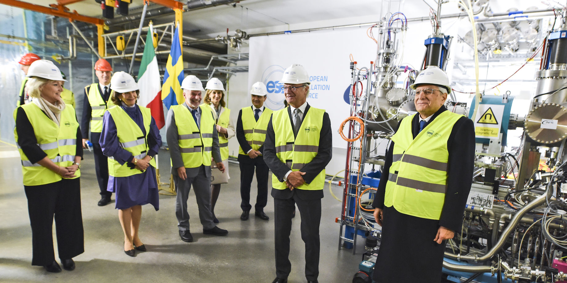 Ion Source King Carl XVI Gustaf Italian President Sergio Mattarella 3