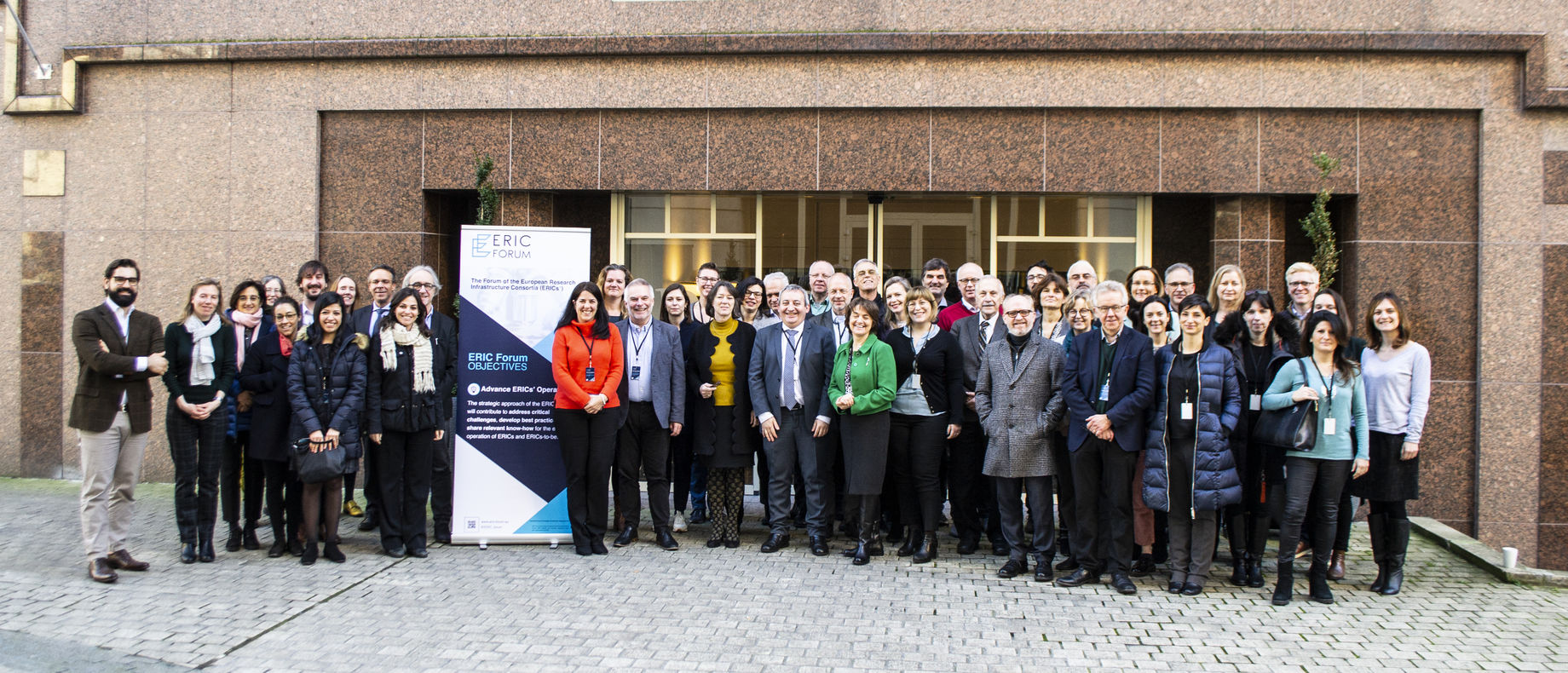 Group photo from the ERIC Forum meeting held in Brussels.