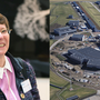 Left: Dr Beatrix Vierkorn-Rudolph. Right: Aerial photo of ESS site from September 2020.